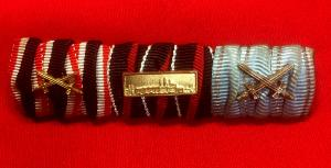 WW2 German Three Medal Ribbon Bar