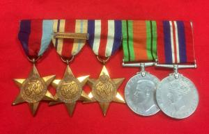 WW2 British Five Medal Group