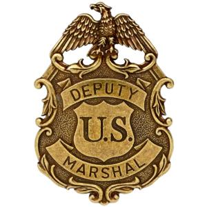 Code: G112/L Replica Eagle Deputy U.S. Marshall Badge