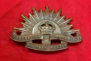 WW2 Australian Cap Badge
