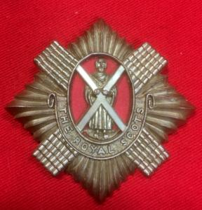 WW2 Royal Scots Plastic Economy Badge