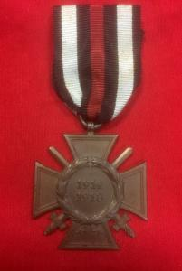 WW1 German Cross Of Honour With Swords
