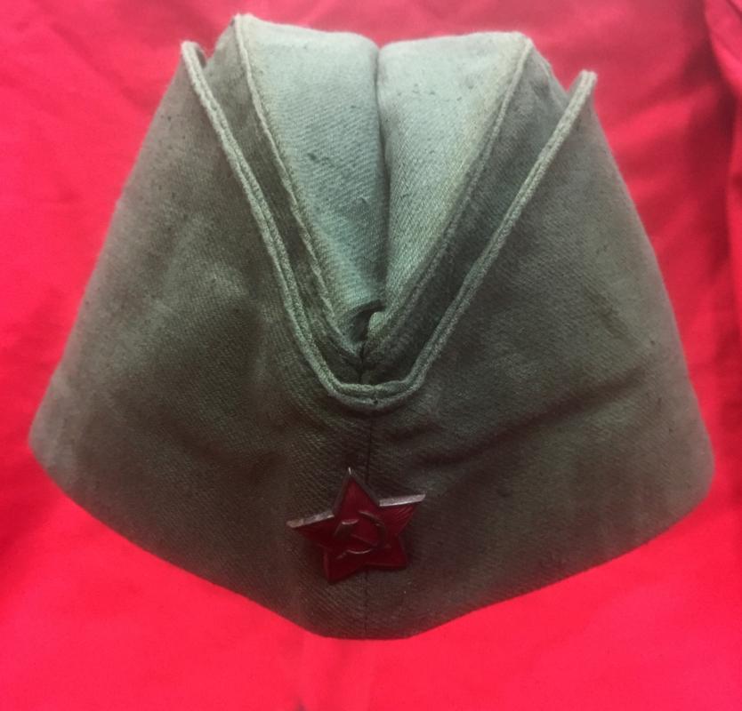 WW2 Soviet Pilotka Side Cap b20dbd565fb