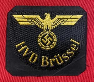 WW2 German Reichsbahn HVD Brussel Cloth Badge
